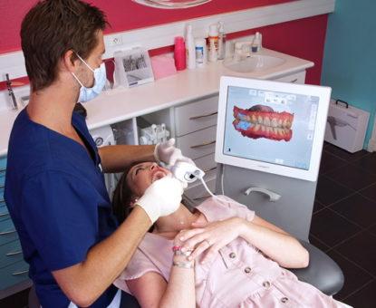 Empreinte numérique 3 Shape - Cabinet d'orthodontie des drs Béatrice et Elliot YVART à Villeneuve d'Ascq